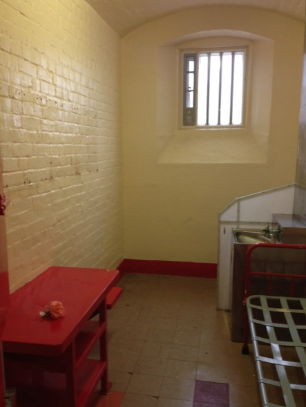 Oscar Wilde's cell, interior.