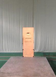 Oscar Wilde's cell door, exterior.